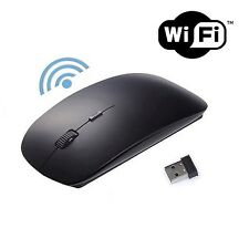 MOUSE NERO WIRELESS ULTRA PIATTO USB SENZA FILI WIFI PC PORTATILE MAC 2.4 GHz