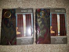 NEW Pier 1 Imports Aura Jacquard Lined Curtains, 2 Panels ONLY ,50in. x 84in.