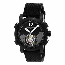 Stührling 407 335X1 Men's Limited Edition Mechanical Tourbillon Sharkskin Watch