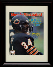 Framed Walter Payton Sports Illustrated Autograph Print 8/16/82 Chicago Bears