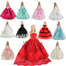 5 Pcs Fashion Wedding Party Gown Dresses & Clothes For Barbie Doll Xmas Gift