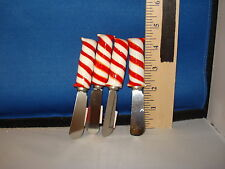 Cheese Knife Candy Striped Set of 4 54598 515