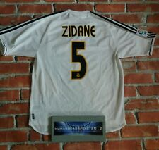 Wow  ZIDANE mens LARGE Real Madrid Spain 2004-2005- RARE football shirt home