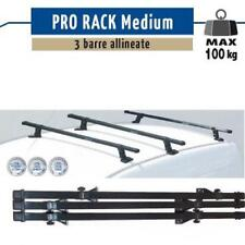 3 BARRE PORTATUTTO ACCIAIO PRO RACK MEDIUM FIAT SCUDO 2007 >