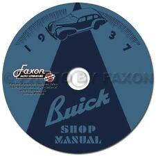 1937 Buick Shop Manual CD 37 Century Special Limited Roadmaster Repair Service