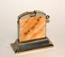 1935 art deco marble enamel kaschie table automatic lighter - spare flint holder