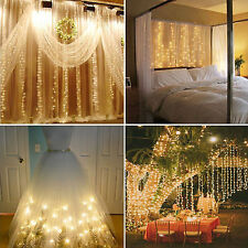 304 LED Christmas xmas String Fairy Wedding Curtain Light Warm White 9.8ftx9.8ft