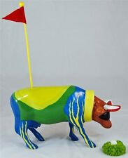 COW PARADE FORECOWDDIE GOLF CADDIE COWS ON PARADE HOUSTON EXHIBIT #9201 RET-MIB