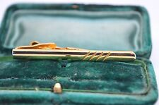 Vintage yellow metal tie clip in the art deco style #T356