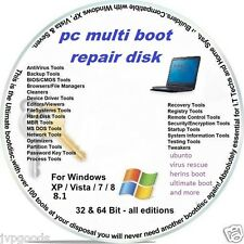 PC multi boot repair disk for all windows  different repair items on the one cd