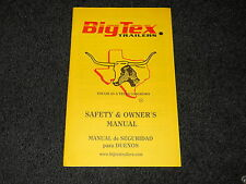 Big Tex Trailers safety & owner's manual
