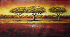 forest landscape trees long large oil painting contemporary modern original art