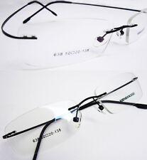 Unisex Black Hingeless Rimless Flexible Eyeglass Frame Eyewear Spectacles RX 638