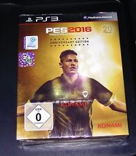 PES 2016 PRO EVOLUTION SOCCER ANNIVERSARY EDITION MIT STEELBOOK PS3 NEU & OVP