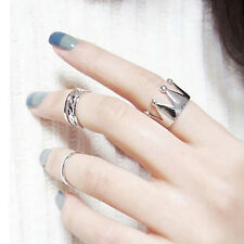 3Pcs Women Hollow Crown Knuckle Ring Set Joint Finger Rings Chic Jewelry