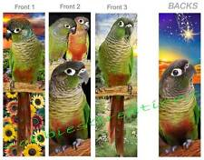 3set-GREEN CHEEK CONURE Parrot Parakeet BOOKMARK Pet Bird Book CARD Art ORNAMENT
