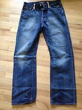 Ed Hardy New Jeans Men Size 34 Dark Blue Straight Awesome!