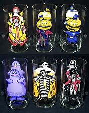 6 McDonald's COLLECTOR SERIES Character Glass Set HAMBURGLER Grimace CAPT CROOK