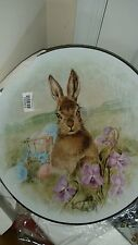 Pottery Barn Meadow Easter Bunny Serving Platter New