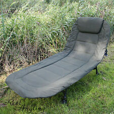 DELUXE BEDCHAIR CARP COARSE PIKE FISHING 6 LEG RECLINER  PILLOW BED CHAIR NGT