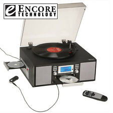 Home Music System with Turntable and CD Player/Recorder