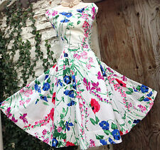 Insanely Gorgeous MONSOON *Meadow* 50s Botanical-Floral RARE full skirt dress 22