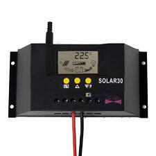 LCD 30A PWM Solar Panel Battery Regulator Charge Controller 12V/24V 360W/720W