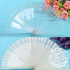 50 CLEAR FALSE NAIL ART TIPS COLOUR POP STICKS DISPLAY FAN PRACTICE STARTER KIT
