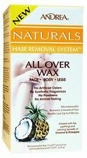 Andrea Naturals Hair Removal System Cold Wax - Coconut Pineapple - 4 oz