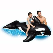 Big Inflatable Floating Orca Whale Ride-on Swim Pool Lake Blow-up Kids Fun Toy