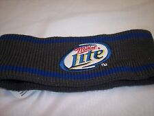"""Miller Lite""   Head Bands  Grey and Blue  100% Acrylic"