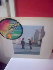 PINK FLOYD WISH YOU WERE HERE LP STICKER ON FRONT COVER + POSTCARD