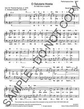 NEW O Salutaris Hostia a 3 for SAB choir a cappella DWB-131014.1