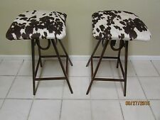 Western Rustic Home Decor One Stool Horseshoe Bar Stool Cowhide Kitchen