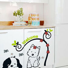2 Lovely Puppy Dog Wall Stickers Decal Art Mural Vinyl Living Room Room Decor
