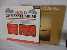 "33 1/3 RPM 2 Albums This Is 21 Channel Sound & ""Cast Your Fate To The Wind"""