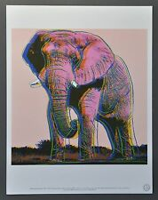 Andy Warhol Foundation Ltd. Ed. Offset Lithograph African Elephant 1983 Elefant