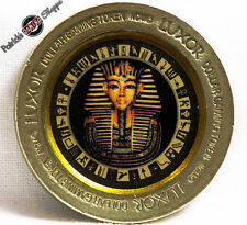 "$1 BRASS SLOT COLOR TOKEN LUXOR CASINO ""KING TUT"" 1995 NCM MINT LAS VEGAS COIN"