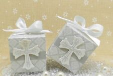 10x CROSS CHRISTENING, BABY SHOWER, PARTY, WEDDING, FAVOUR BONBONNIERE BOXES