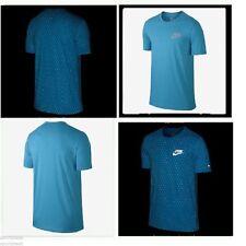 Nike Run Digital Dots Reflective FLASH Men's T-Shirt Blue Casual Training Small
