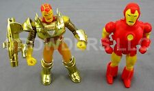 1991 Classic Iron Man w/ Removable Armor & 1994 Hydro Armor Iron Man Marvel Rare