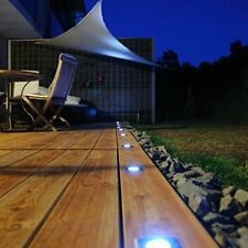 10 x Garden Patio Driveway Bright White Solar Powered Led Decking Deck Lights