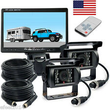 """Dual waterproof backup Camera+7""""LCD rear view Monitor for Truck RV Trailer auto"""