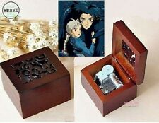 SQUARE CARVING WOOD WIND UP MUSIC BOX : Ghibli Howl's Moving Castle Soundtrack