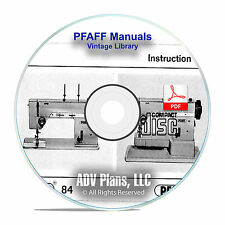Vintage PFAFF Sewing Machine Instruction Books Service Manuals 100+ Model CD F11