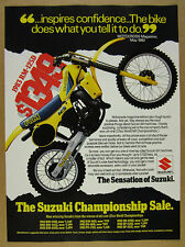 1983 Suzuki RM-125D 125 motocross motorcycle color photo vintage print Ad