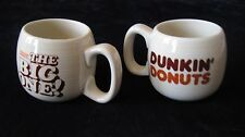 2 vintage Dunkin' Donuts THE BIG ONE! ceramic coffee mugs
