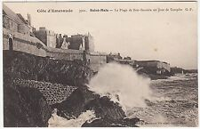 FRANCE - Saint Malo - Cote d'Emeraude - Plage Bon Secours - c1910s era postcard