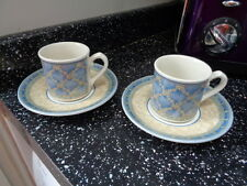 CHURCHILL PORTS OF CALL PRAGUE ESPRESSO CUPS AND SAUCERS X 2