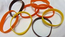MALIBU RUM Rubber Wrist Bands, SET OF 4, Red/Yellow/Orange/Raisin, Mix & Match